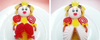 Creative marmalade fruit jelly sweet food princess form Stock Image