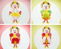 Creative marmalade fruit jelly sweet food princess form Royalty Free Stock Image