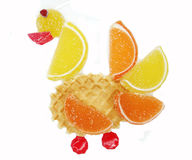 Creative marmalade fruit jelly sweet food swan form Stock Images