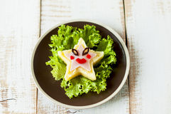Creative meal for kid. Royalty Free Stock Images
