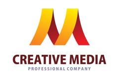 Creative media logo. Logo design of letter m in creative media Stock Photo
