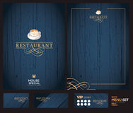 Creative menu design. Layout design, Royalty Free Stock Photography