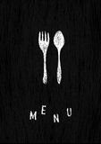 Creative menu template. Stock Image