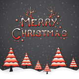 Creative merry Christmas background Royalty Free Stock Image