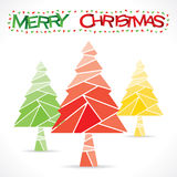 Creative merry Christmas background. Colorful merry chrismtas tree greeting design Royalty Free Stock Photo
