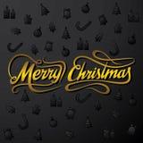 Creative merry christmas greeting design Royalty Free Stock Photos
