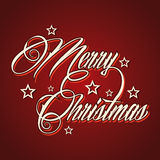 Creative Merry Christmas greeting. Stock vector Stock Image