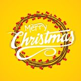 Creative merry christmas card design Stock Images