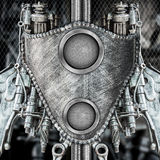Creative metallic robot Royalty Free Stock Image