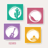 Creative mexico greeting card. With signs Royalty Free Stock Photo