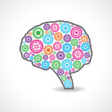 Creative mind or brain with colorful gears Royalty Free Stock Images