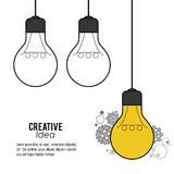 Creative mind and idea icon design, vector illustration Royalty Free Stock Images
