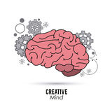Creative mind and idea icon design, vector illustration Royalty Free Stock Image