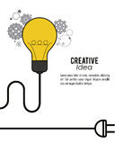 Creative mind and idea icon design, vector illustration Stock Photo