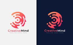 Free Creative Mind Logo Design. Abstract Tech Circle Combined With Face Silhouette. Usable For Business Brand, Tech And Company. Vector Royalty Free Stock Photo - 212124735