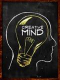 Creative Mind sketch on blackboard. Creative Mind - sketch on blackboard Royalty Free Stock Photo