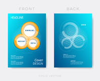 Creative modern annual report design template. Background Royalty Free Stock Image
