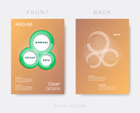 Creative modern annual report design template Stock Images