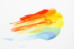 Creative modern art, abstract rainbow. Gay colors. Creativity, abstractionism, modern art painting. Colorful bright rainbow. Symbol of gay pride, vivid colors Stock Photography