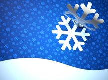 Creative modern Christmas background, snow flake Royalty Free Stock Image