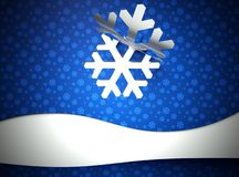 Creative modern Christmas background, snow flake Royalty Free Stock Photos