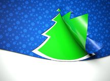Creative modern Christmas tree background Royalty Free Stock Photo