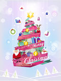 Creative modern design Christmas tree Royalty Free Stock Photo