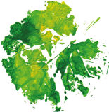 Creative modern eco tree leaf logo painted in watercolor. Vector Stock Photography