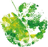 Creative modern eco tree leaf logo painted in watercolor. Vector Royalty Free Stock Images