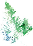 Creative modern eco tree leaf logo painted in watercolor Stock Image