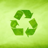 Creative modern green recycle symbol Royalty Free Stock Photography