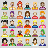 Creative modern icons avatars with people. Creative modern icons avatars with men and women persons..Vector  illustration Stock Photos