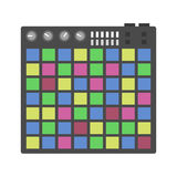 Creative modern musical instruments concept midi launchpad vector. Royalty Free Stock Photos
