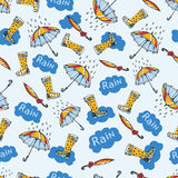 Creative modern pattern. Creative pattern with elements of rain boots and string. Suitable for wrapping paper royalty free illustration