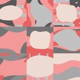 Creative modern set of design nude background vector illustration
