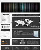 Creative Modern Web template. Royalty Free Stock Image