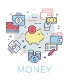Creative money and banking concept illustration. Royalty Free Stock Image