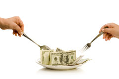 Creative Money Food Royalty Free Stock Images