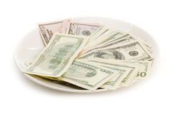 Creative money food Royalty Free Stock Photos