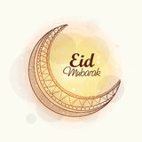Creative moon for holy festival Eid celebration. Royalty Free Stock Photo