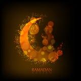 Creative Moon with Praying Boy for Ramadan. Stock Image
