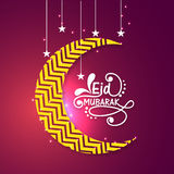 Creative moon with stars for Eid celebration. Stock Image