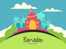 Creative mosque for holy month, Ramadan Kareem celebration. Royalty Free Stock Photos