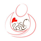 Creative mother baby icon design concept vector Royalty Free Stock Photography