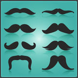Creative Moustache Vector Design. Vector Elements. Minimal Isolated Movember Illustration. EPS10 Stock Images