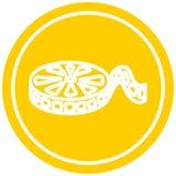 A creative movie film reel circular icon. An original creative movie film reel circular icon vector illustration
