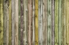 Creative multicoloured Wood Background. Wood panels Royalty Free Stock Photography