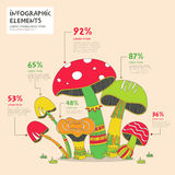 Creative mushrooms infographics design Stock Images