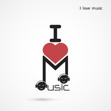 Creative music note abstract vector logo design. Musical creativ Royalty Free Stock Photos