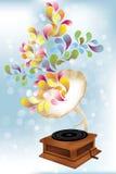 Creative music player. Illustration stock illustration